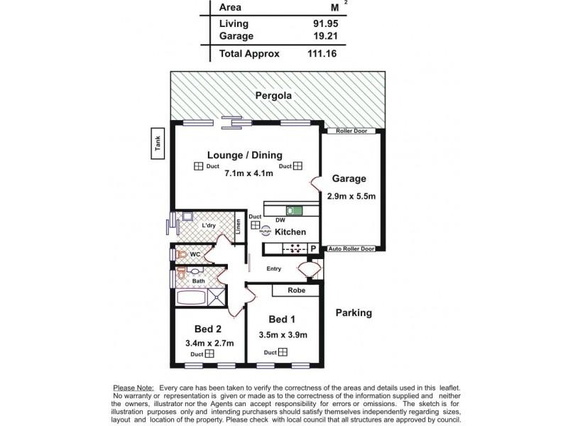1, 2 Olivier Terrace, Hallett Cove SA 5158 Floorplan