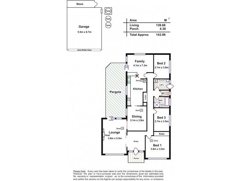 10 Leitch Avenue, Port Noarlunga SA 5167 Floorplan