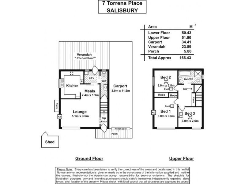 7 Torrens Place, Salisbury SA 5108 Floorplan