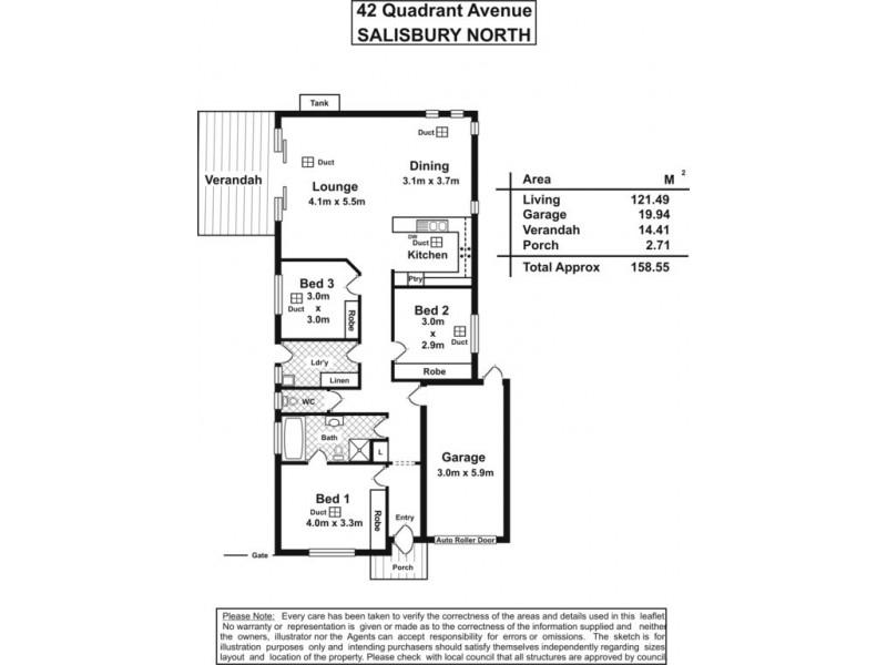 42 Quandrant Avenue, Salisbury North SA 5108
