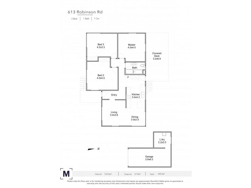 613 Robinson Road West, Aspley QLD 4034 Floorplan