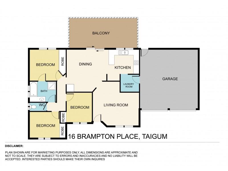 16 Brampton Place, Taigum QLD 4018 Floorplan