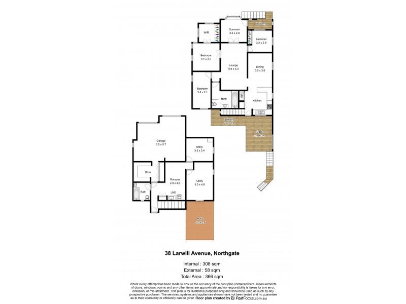 38 Larwill Avenue, Northgate QLD 4013 Floorplan