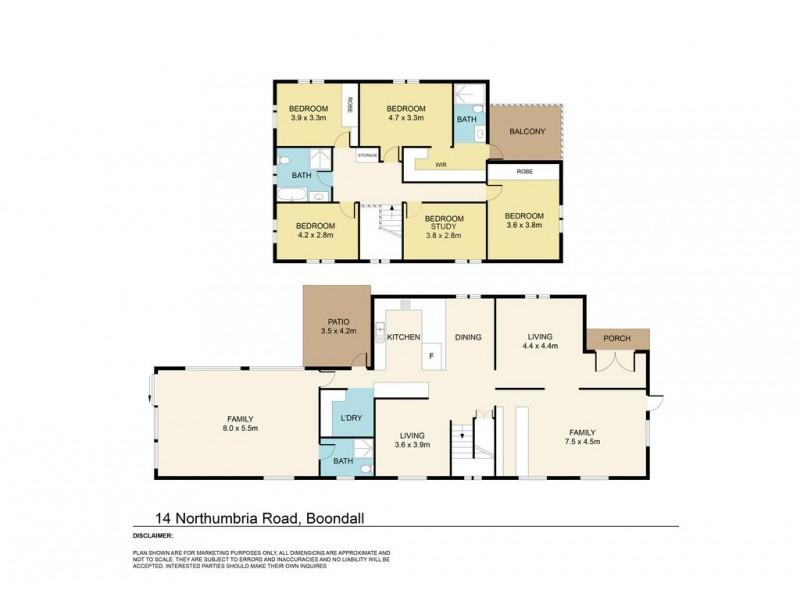 14 Northumbria Road, Boondall QLD 4034 Floorplan