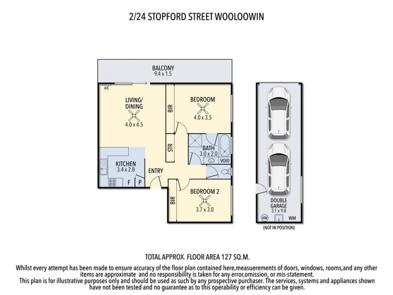 2/24 Stopford Street, Wooloowin QLD 4030 Floorplan