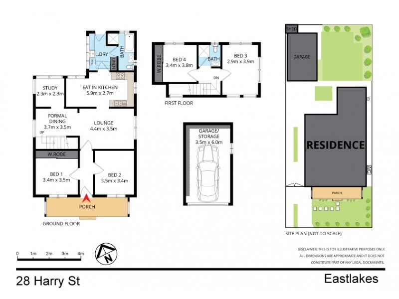 28 Harry Street, Eastlakes NSW 2018 Floorplan