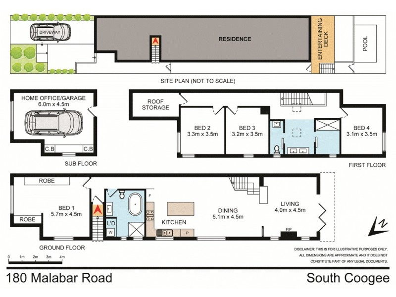 180 Malabar Road, South Coogee NSW 2034 Floorplan