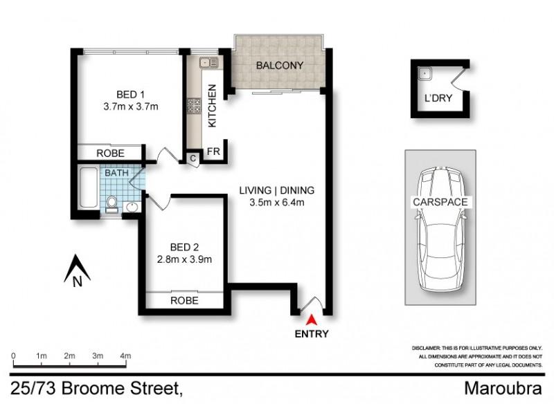 25/73 Broome Street, Maroubra NSW 2035 Floorplan