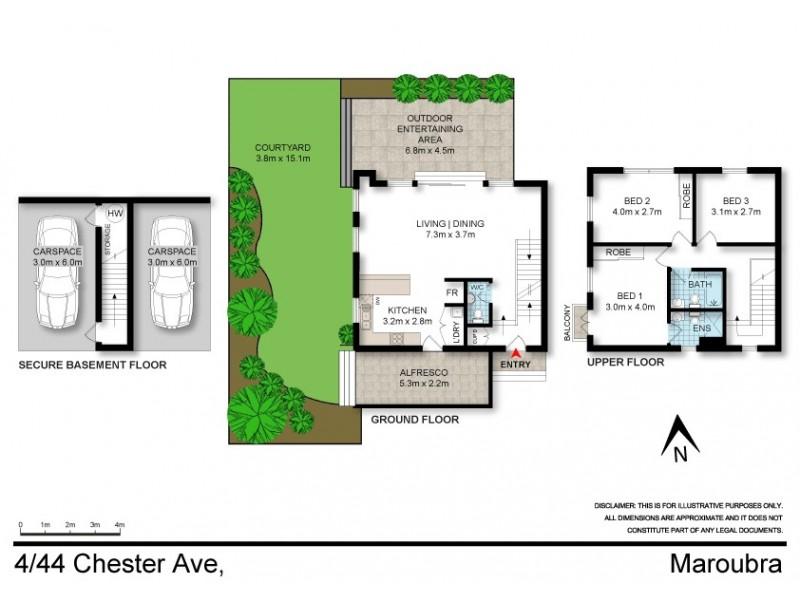 4/44 Chester Avenue, Maroubra NSW 2035 Floorplan