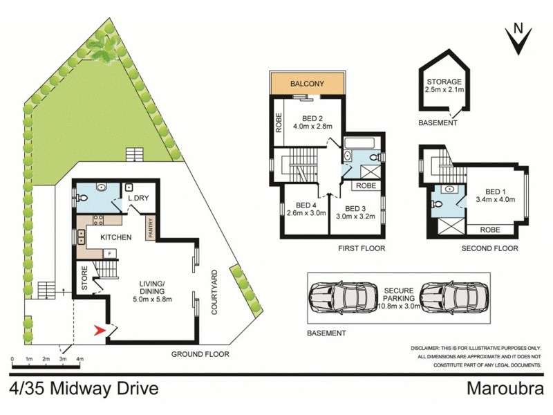 4/35 Midway Drive, Maroubra NSW 2035 Floorplan