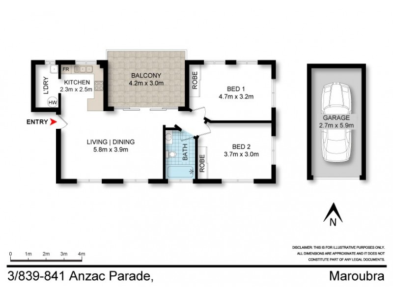 3/839-841 Anzac Parade, Maroubra NSW 2035 Floorplan