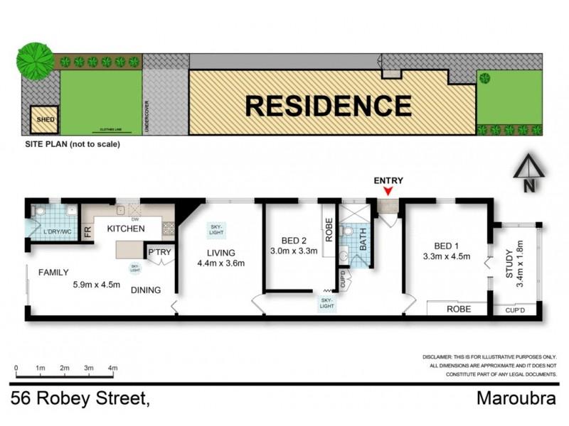 56 Robey Street, Maroubra NSW 2035 Floorplan