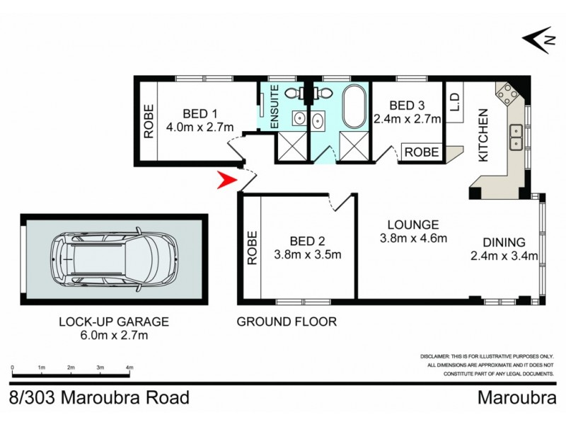 8/303 Maroubra Road, Maroubra NSW 2035 Floorplan