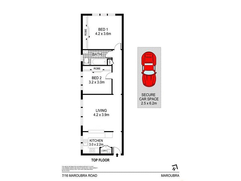 7/16 Maroubra Road, Maroubra NSW 2035 Floorplan