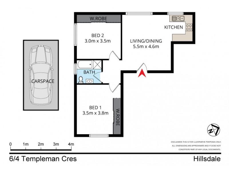 6/4 Templeman Crescent, Hillsdale NSW 2036 Floorplan