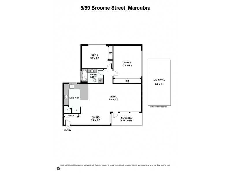5/59 Broome Street, Maroubra NSW 2035 Floorplan