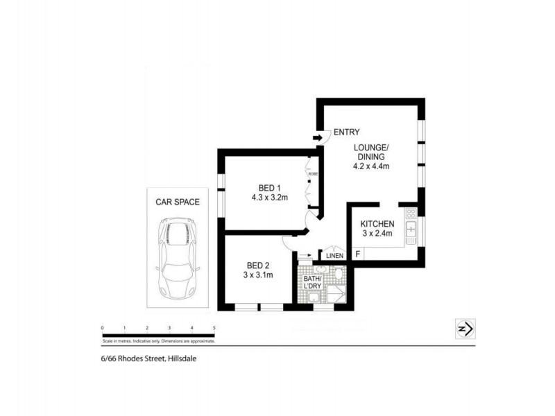 6/66 Rhodes Street, Hillsdale NSW 2036 Floorplan