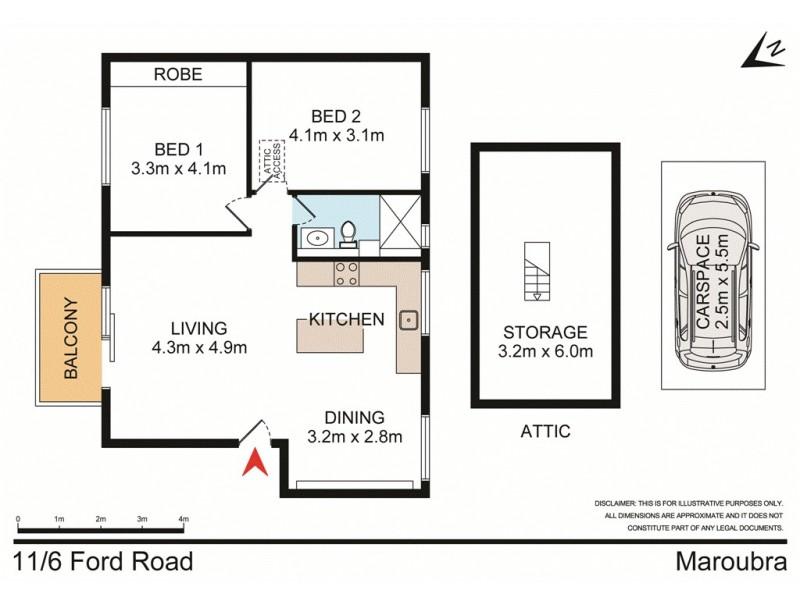 11/6 Ford Road, Maroubra NSW 2035 Floorplan