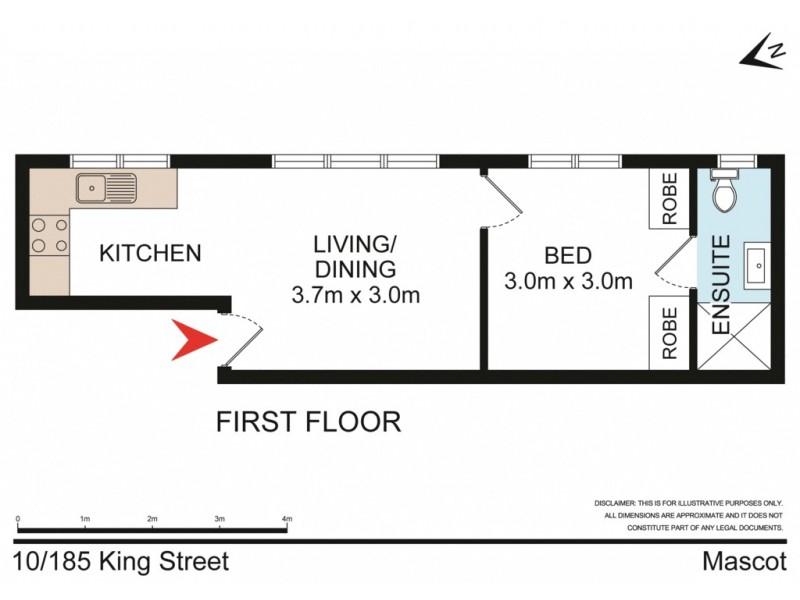 10/185 King Street, Mascot NSW 2020 Floorplan