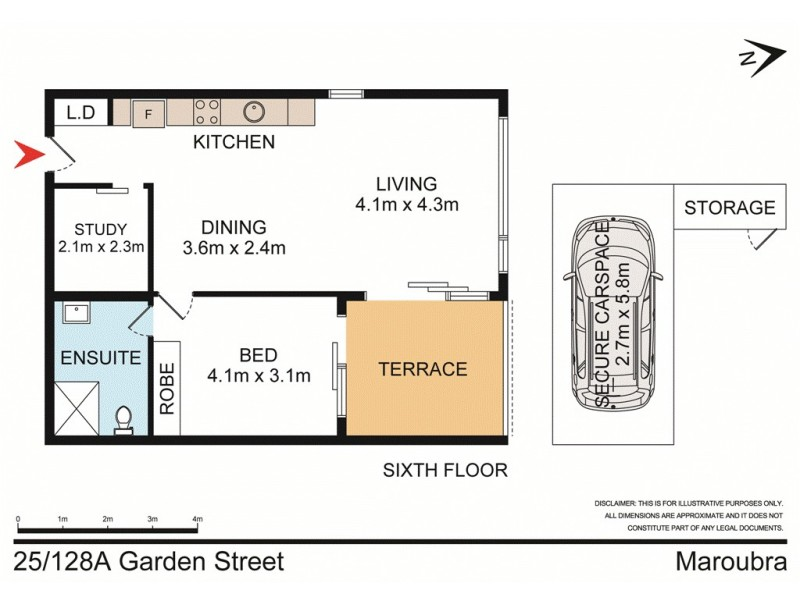 25/128a Garden Street, Maroubra NSW 2035 Floorplan