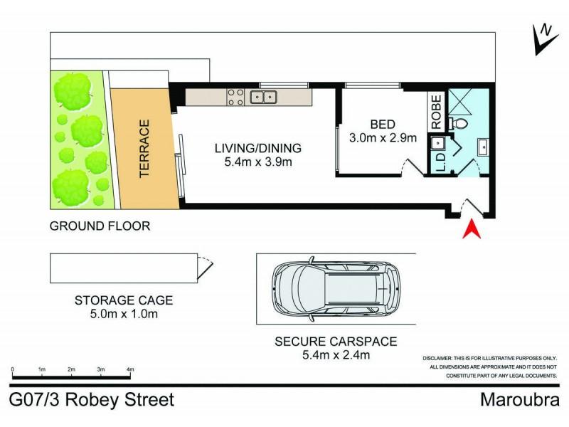G07/3 Robey Street, Maroubra NSW 2035 Floorplan
