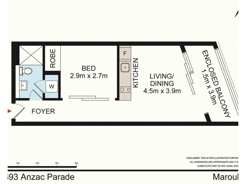 2/693 Anzac Parade, Maroubra NSW 2035 Floorplan
