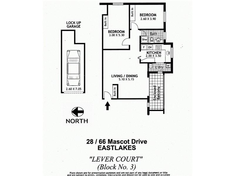 28/66 Mascot Drive, Eastlakes NSW 2018 Floorplan