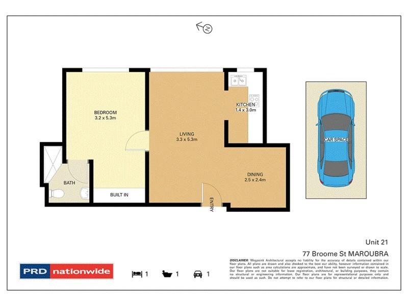 21/77 Broome Street, Maroubra NSW 2035 Floorplan