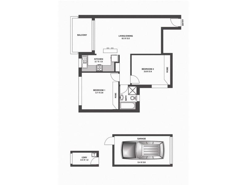 14/85 Broome Street, Maroubra NSW 2035 Floorplan