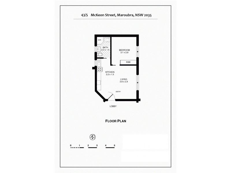 43/5 McKeon Street, Maroubra NSW 2035 Floorplan