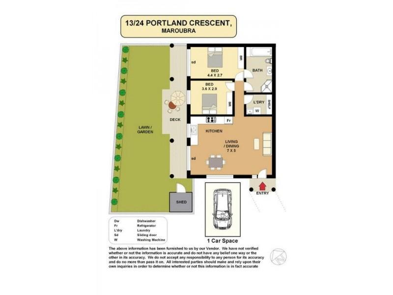 13/24-28 Portland Crescent, Maroubra NSW 2035 Floorplan