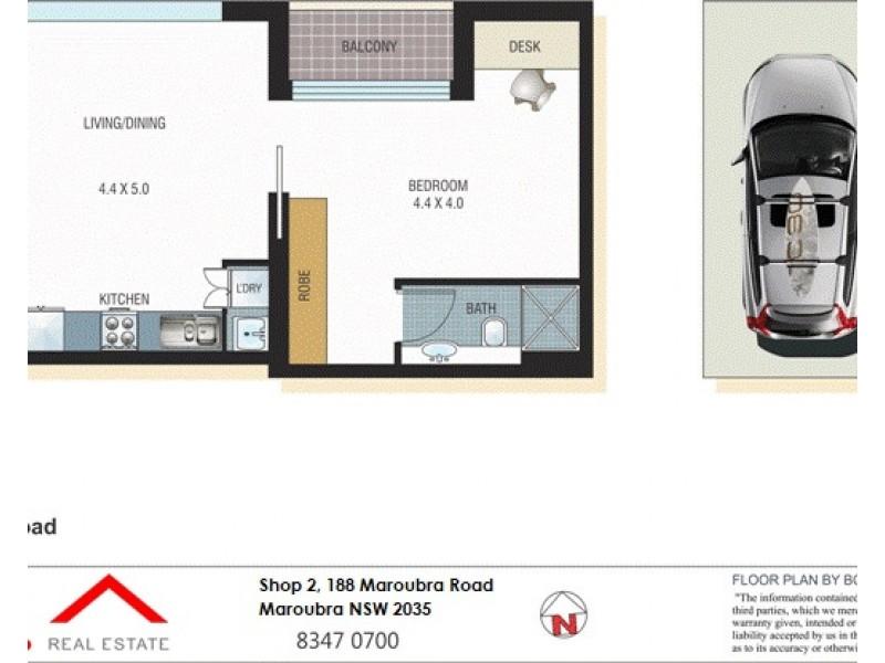 607/200 Maroubra Road, Maroubra NSW 2035 Floorplan