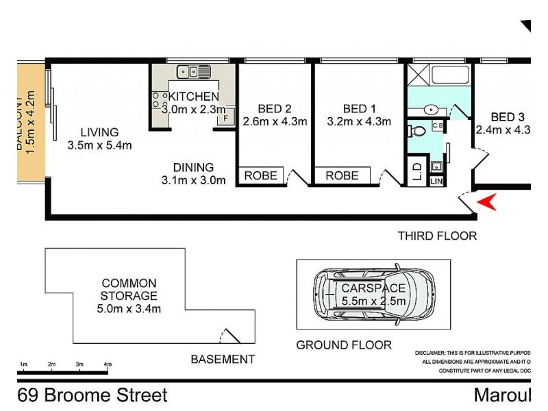 11/69 Broome Street, Maroubra NSW 2035 Floorplan
