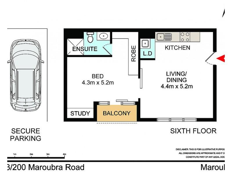 603/200 Maroubra Road, Maroubra NSW 2035 Floorplan