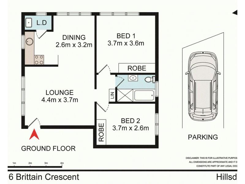 2/16 Brittain Crescent, Hillsdale NSW 2036 Floorplan