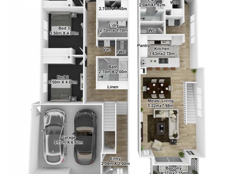 Lot 100/101 23 Nashwauk Crescent, Moana SA 5169 Floorplan