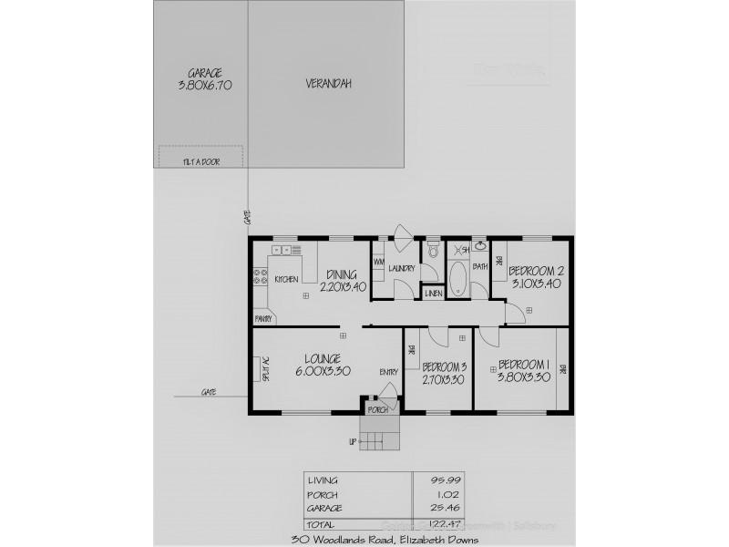 30 Woodlands Road, Elizabeth Downs SA 5113 Floorplan