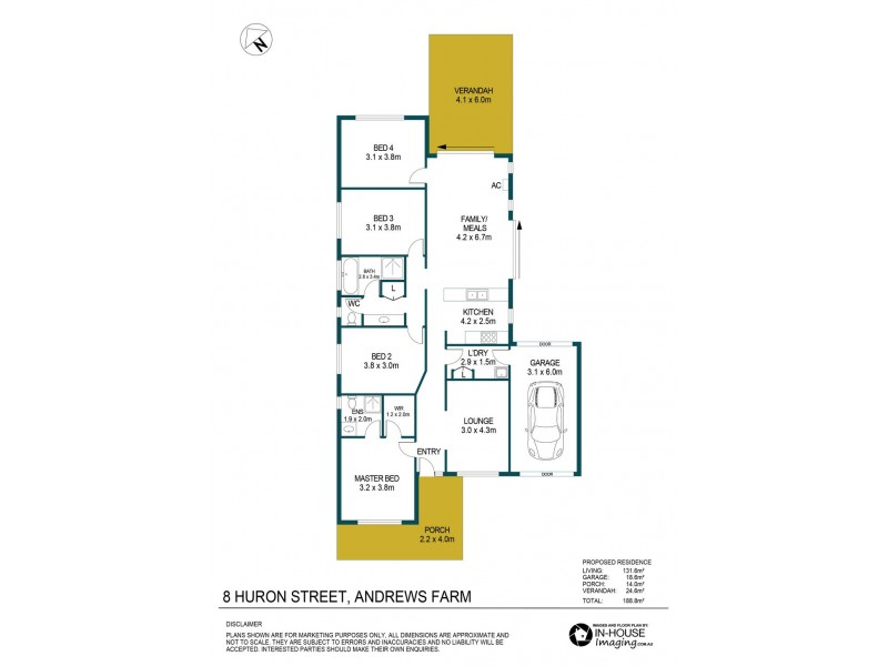 8 Huron Street, Andrews Farm SA 5114 Floorplan
