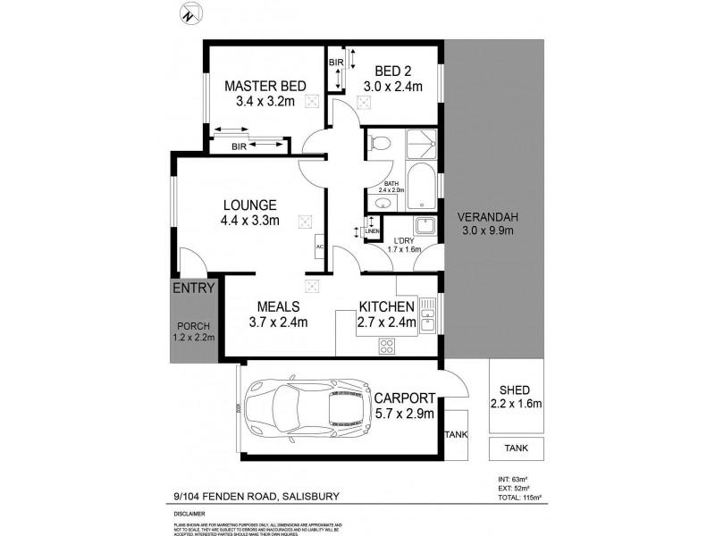 Unit 9, 104 Fenden Road, Salisbury SA 5108 Floorplan