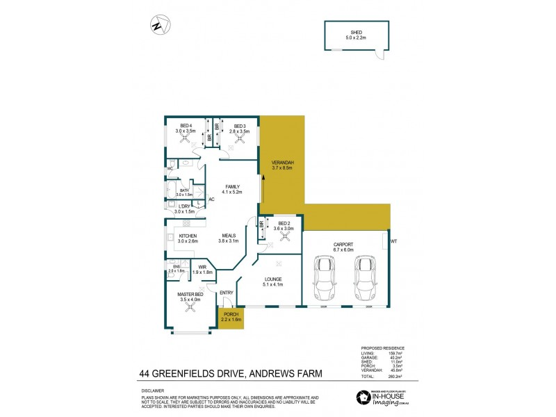 44 Greenfields Drive, Andrews Farm SA 5114 Floorplan