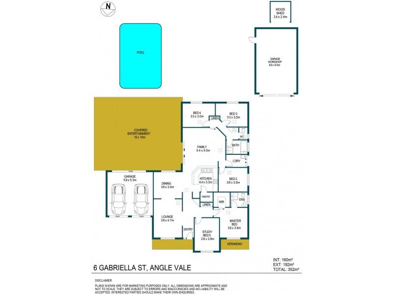6 Gabriella Court, Angle Vale SA 5117 Floorplan
