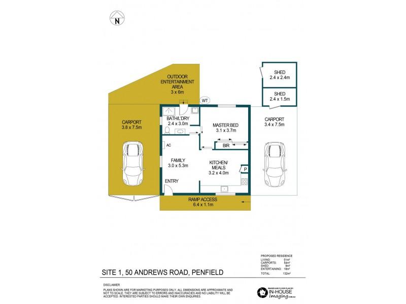 Site 1, 50 Andrews Road, Penfield SA 5121 Floorplan