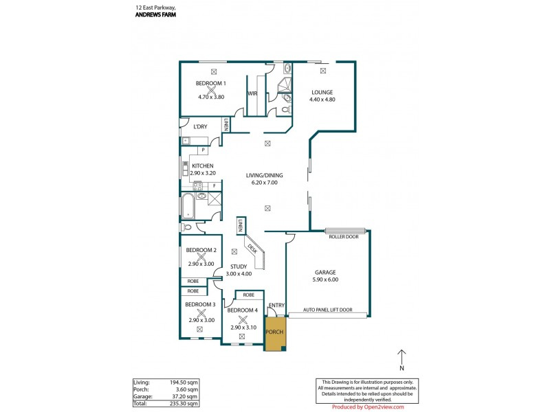 12 East Parkway, Andrews Farm SA 5114 Floorplan