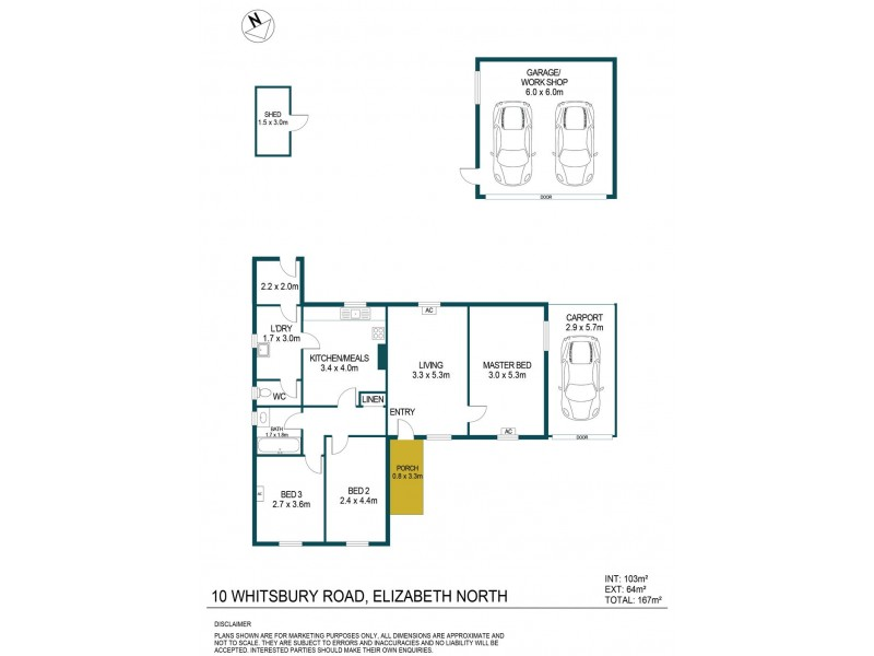 10 Whitsbury Road, Elizabeth North SA 5113 Floorplan