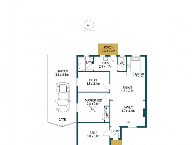 11 Whiteparish Road, Elizabeth North SA 5113 Floorplan