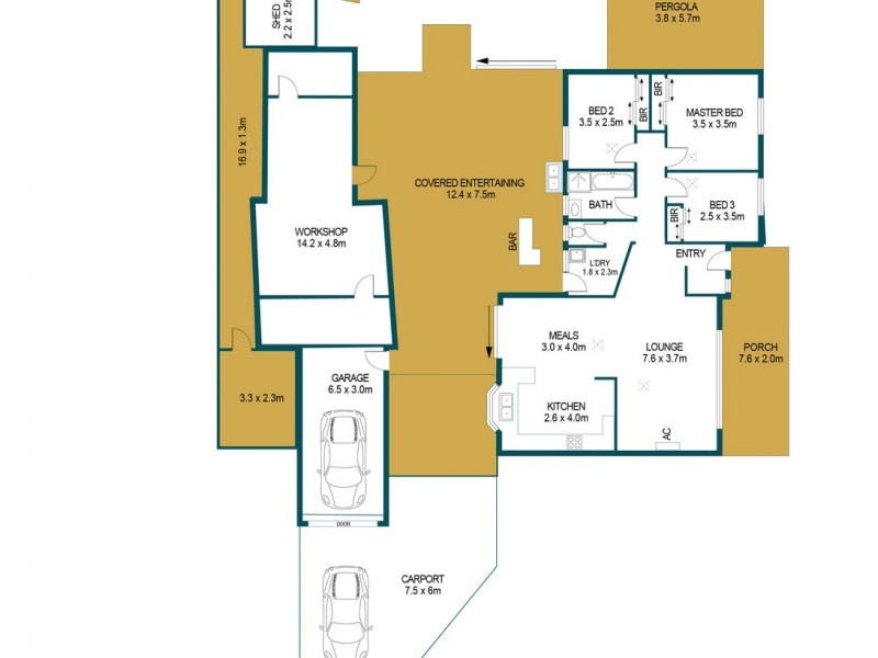 36 Justinian Street, Elizabeth Downs SA 5113 Floorplan