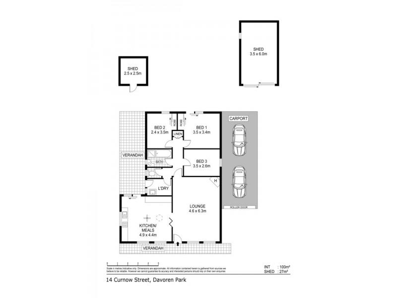 14 Curnow Street, Davoren Park SA 5113 Floorplan