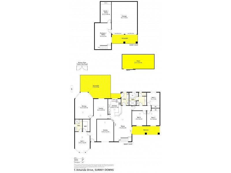 5 Amanda Drive, Surrey Downs SA 5126 Floorplan