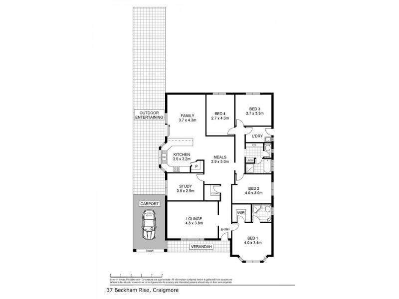 37 Beckham Rise, Craigmore SA 5114 Floorplan