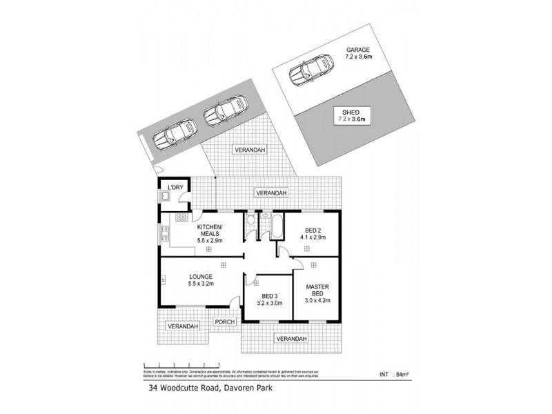 34 Woodcutts Road, Davoren Park SA 5113 Floorplan